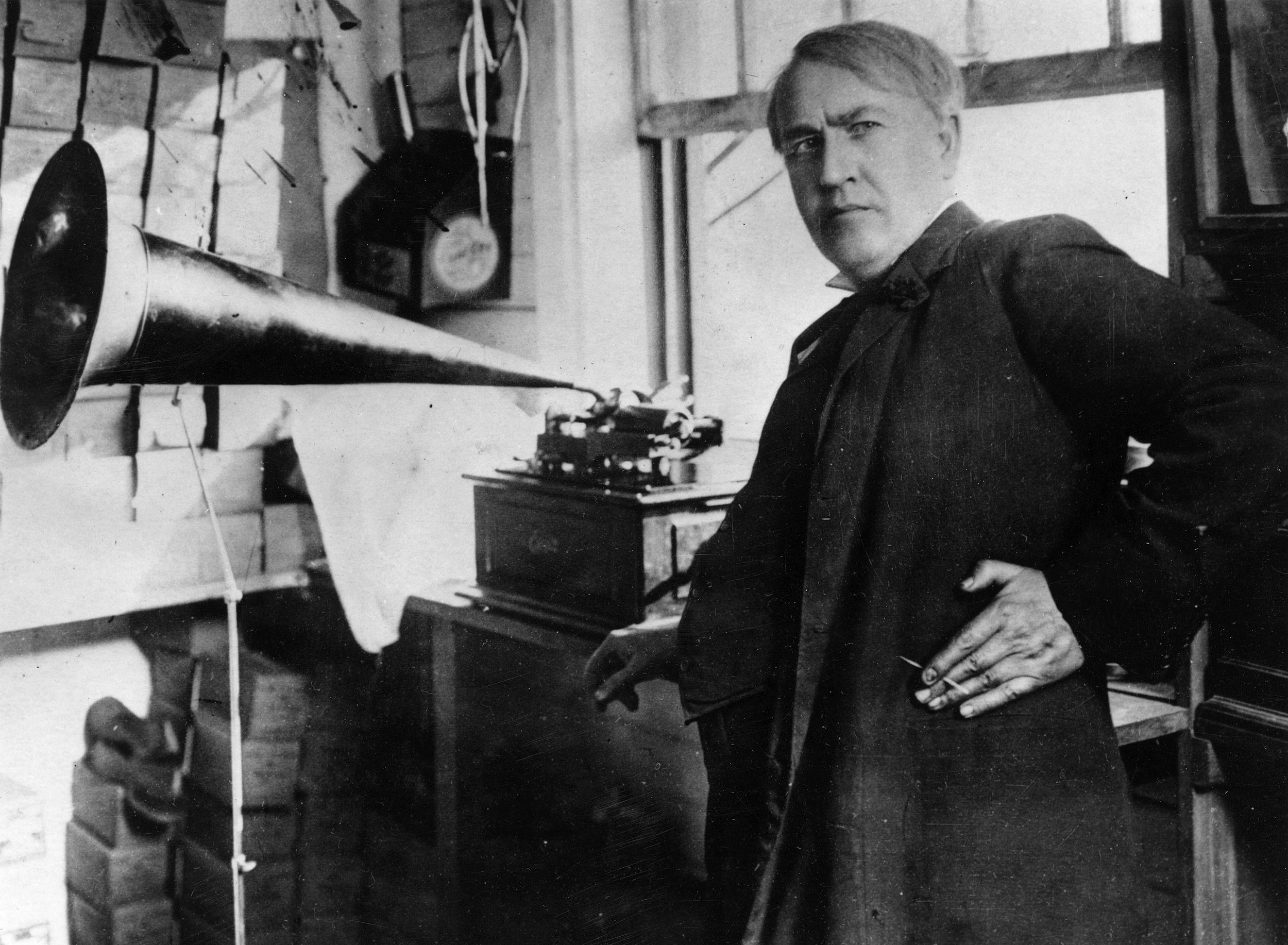 In History – Edison demonstrates phonograph for thomas edison first phonograph  545xkb