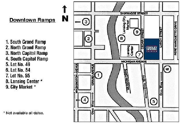 Here's a map of the area of downtown Lansing where Taste of Country takes place.
