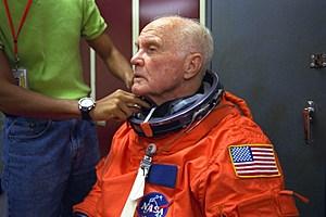 Friend to Sea-Monkeys everywhere: astronaut and senator John Glenn..Getty Images