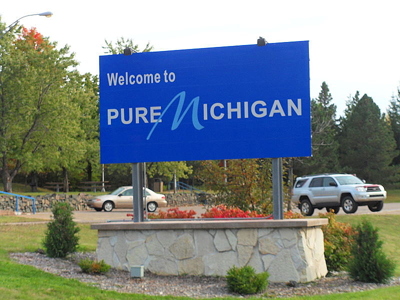 Welcome to Michigan sign-Photo Courtesy of Wikimedia Commons